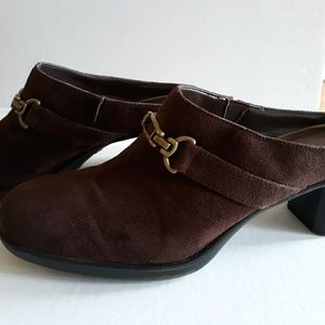 Women's Brown Suede Mules Shoes